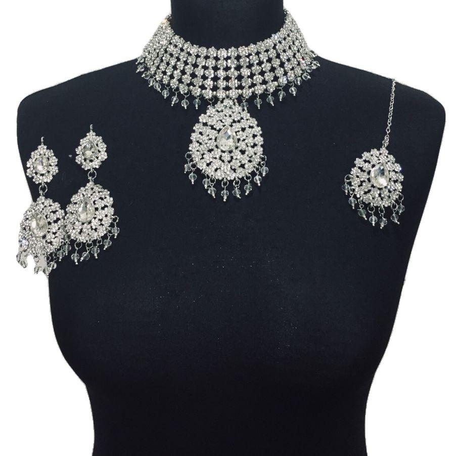 silver jewellery set NCK0504