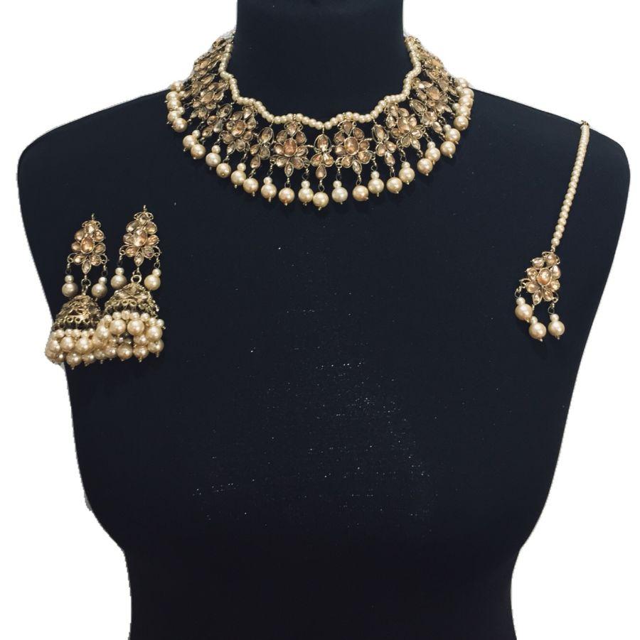 golden necklace set NCK0511