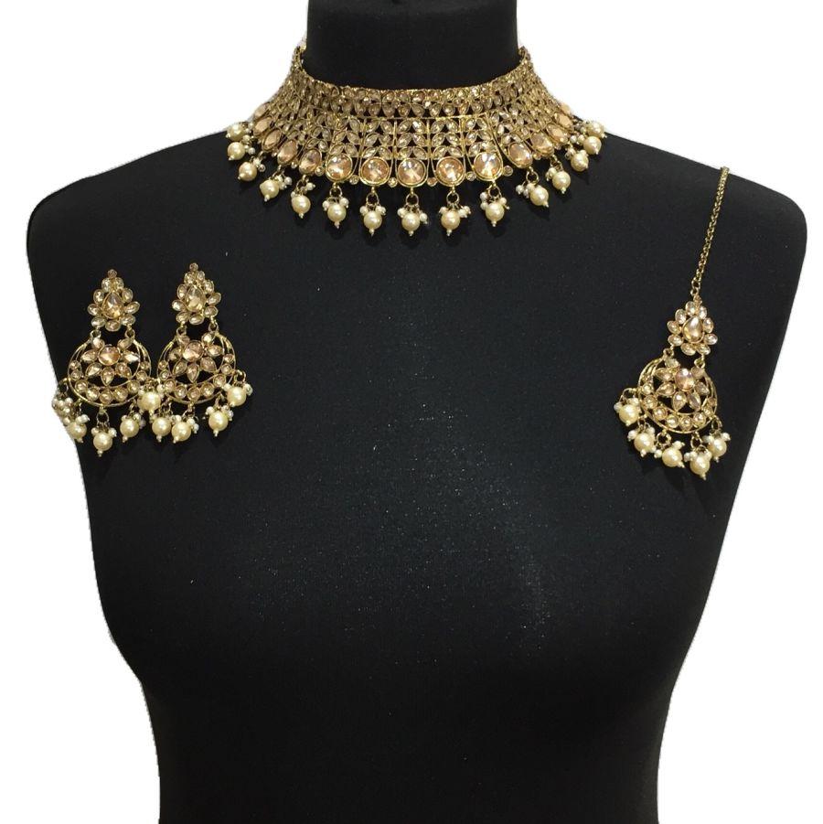 golden necklace set NCK0522