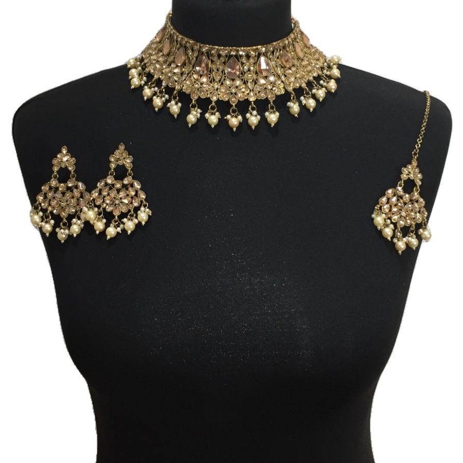 golden necklace set NCK0524