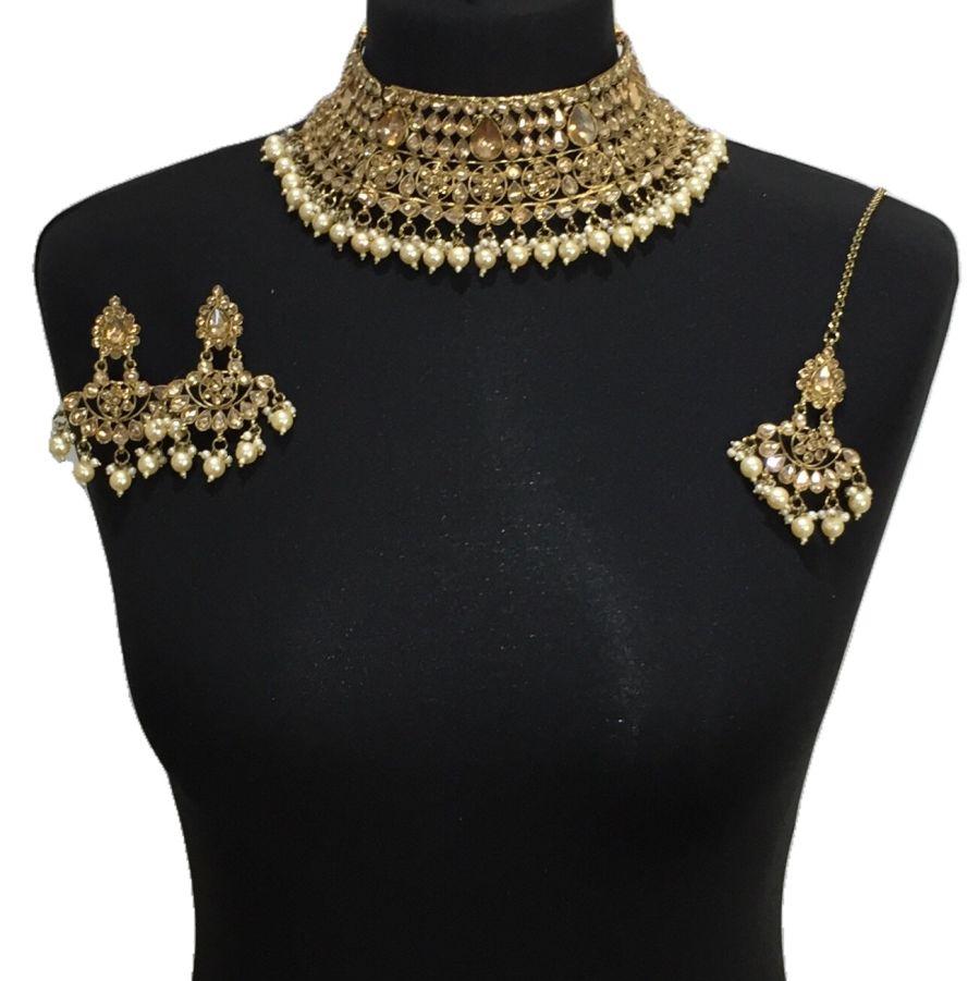 golden necklace set NCK0528