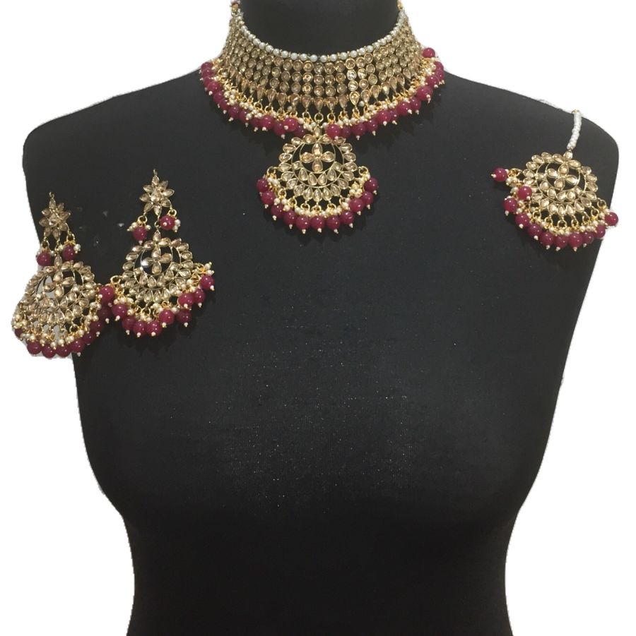 red gold necklace set NCK0539