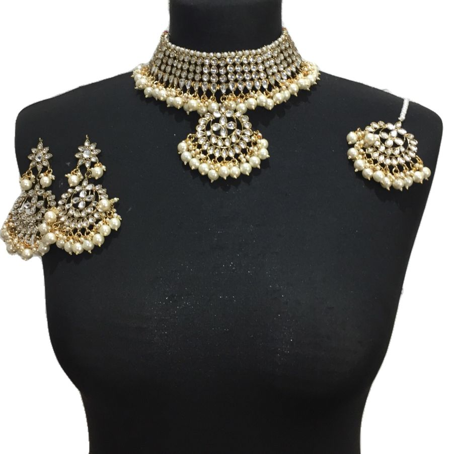 golden necklace set NCK0540