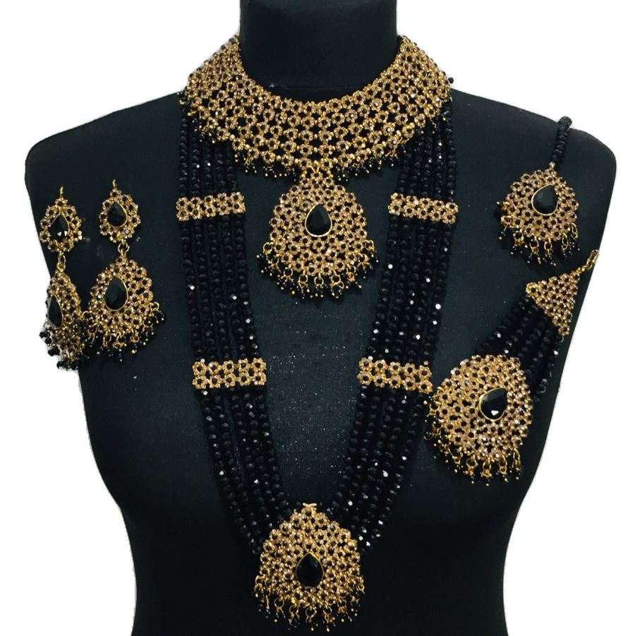 black mala bridal set BRD0391