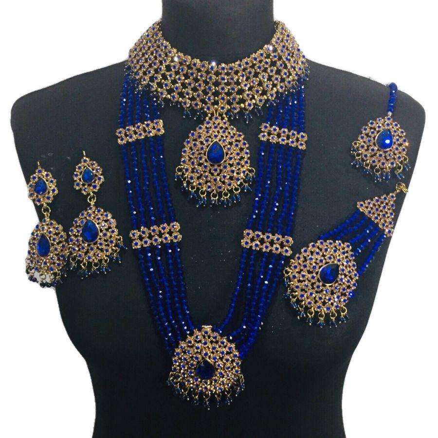 royal blue bridal set BRD0397