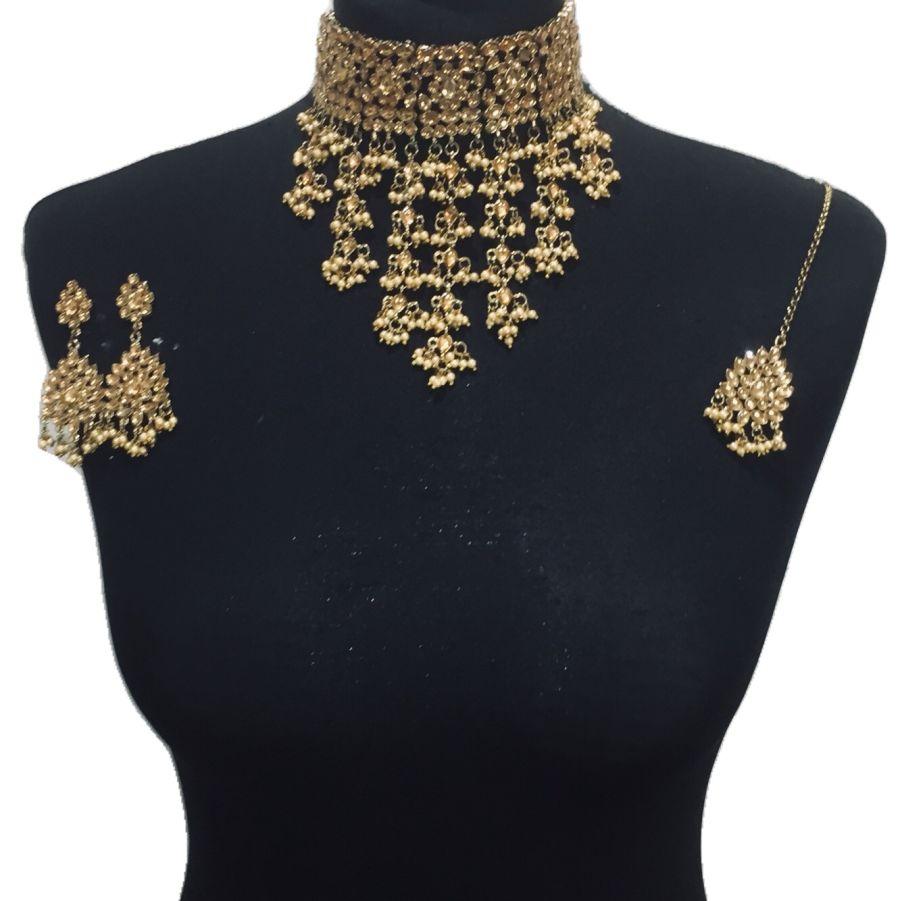 golden kundan style set NCK0558