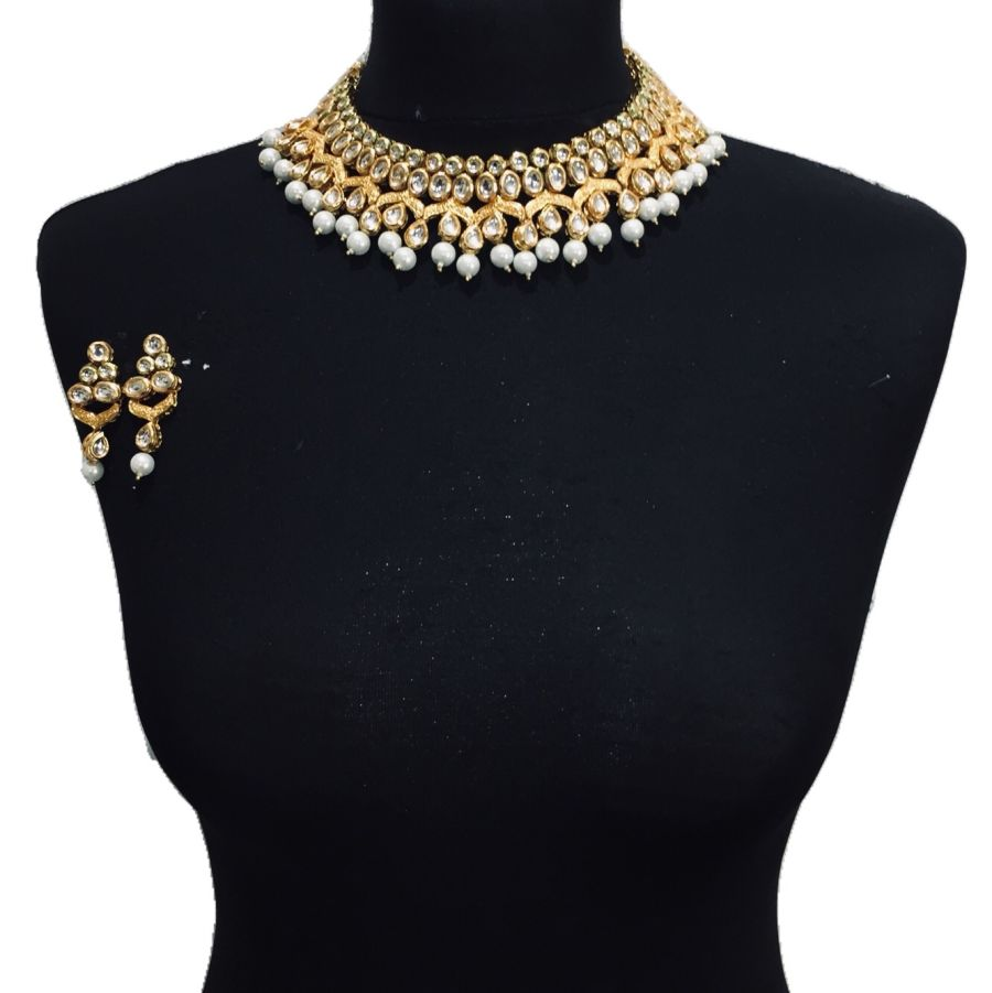 pearl kundan necklace set NCK0563
