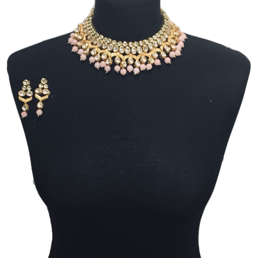 pink kundan set NCK0564