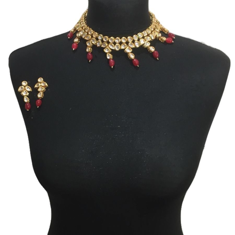 red kundan set NCK0572