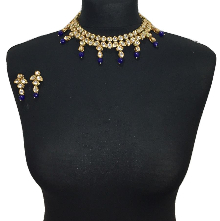 royal blue kundan set NCK0574
