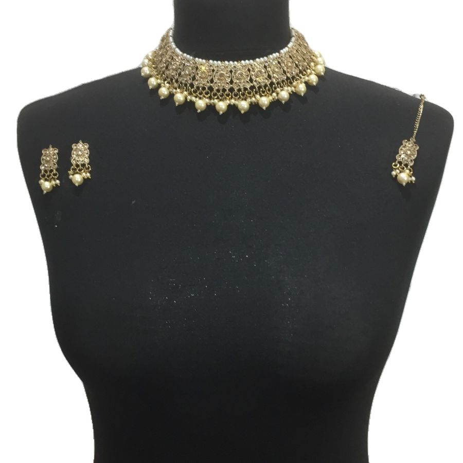 golden necklace set NCK0577