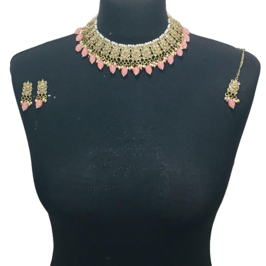 pink necklace set NCK0578