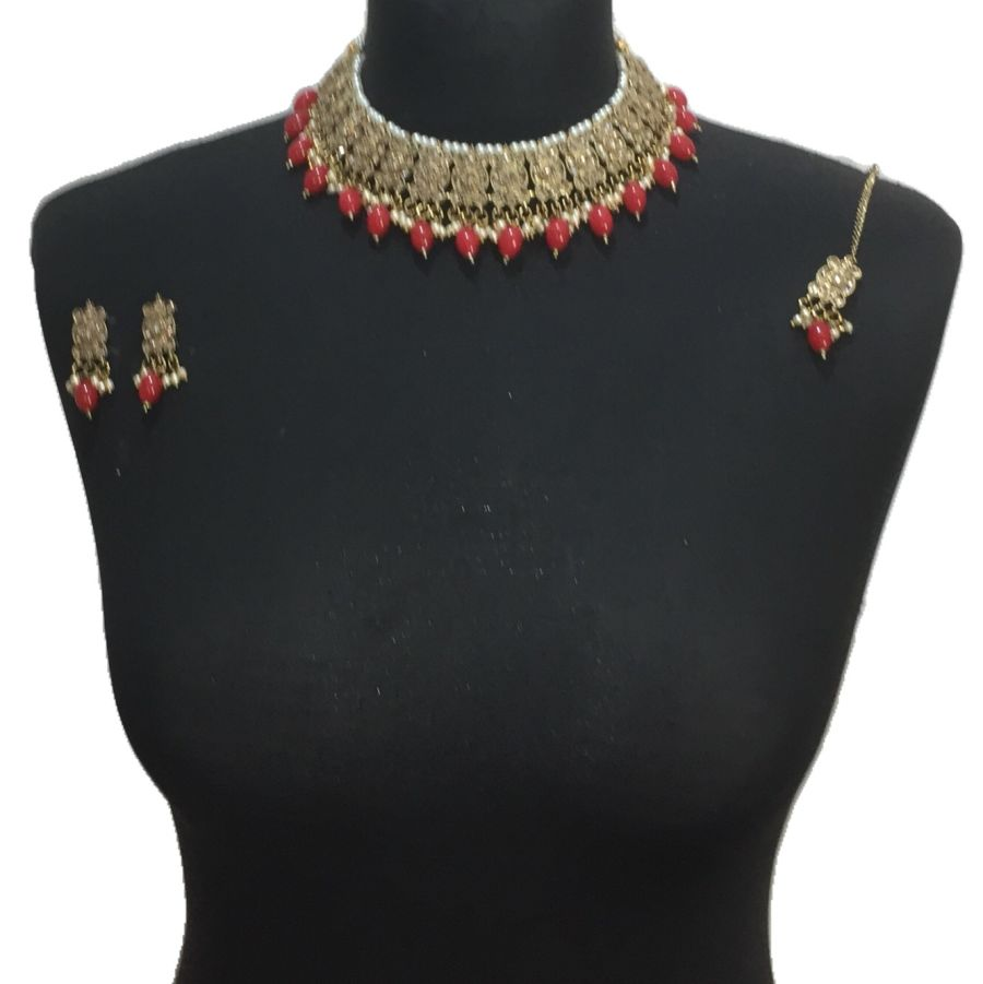 red necklace set NCK0579