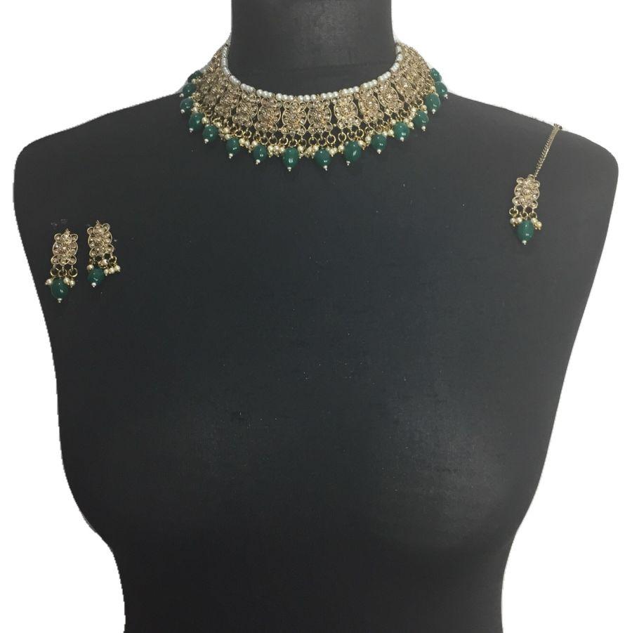 green necklace set NCK0582