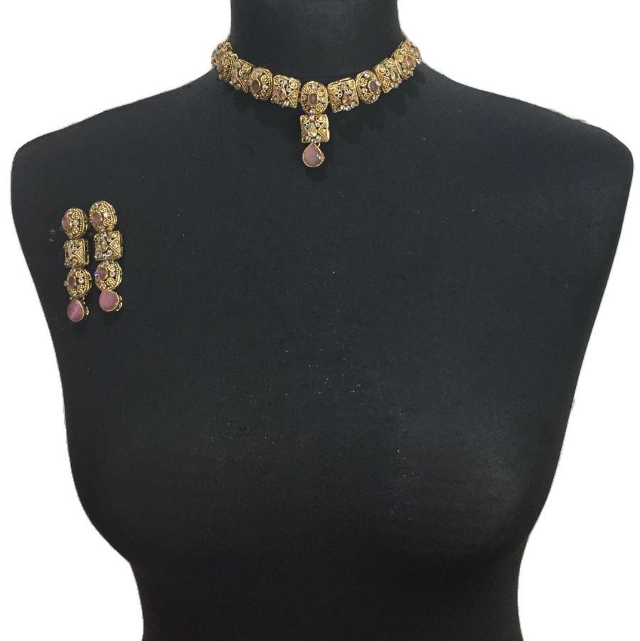 pink necklace set NCK0590
