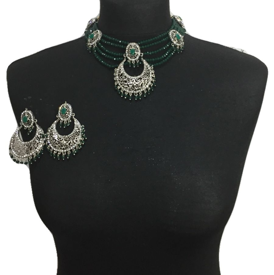 green silver traditional set NCK0598