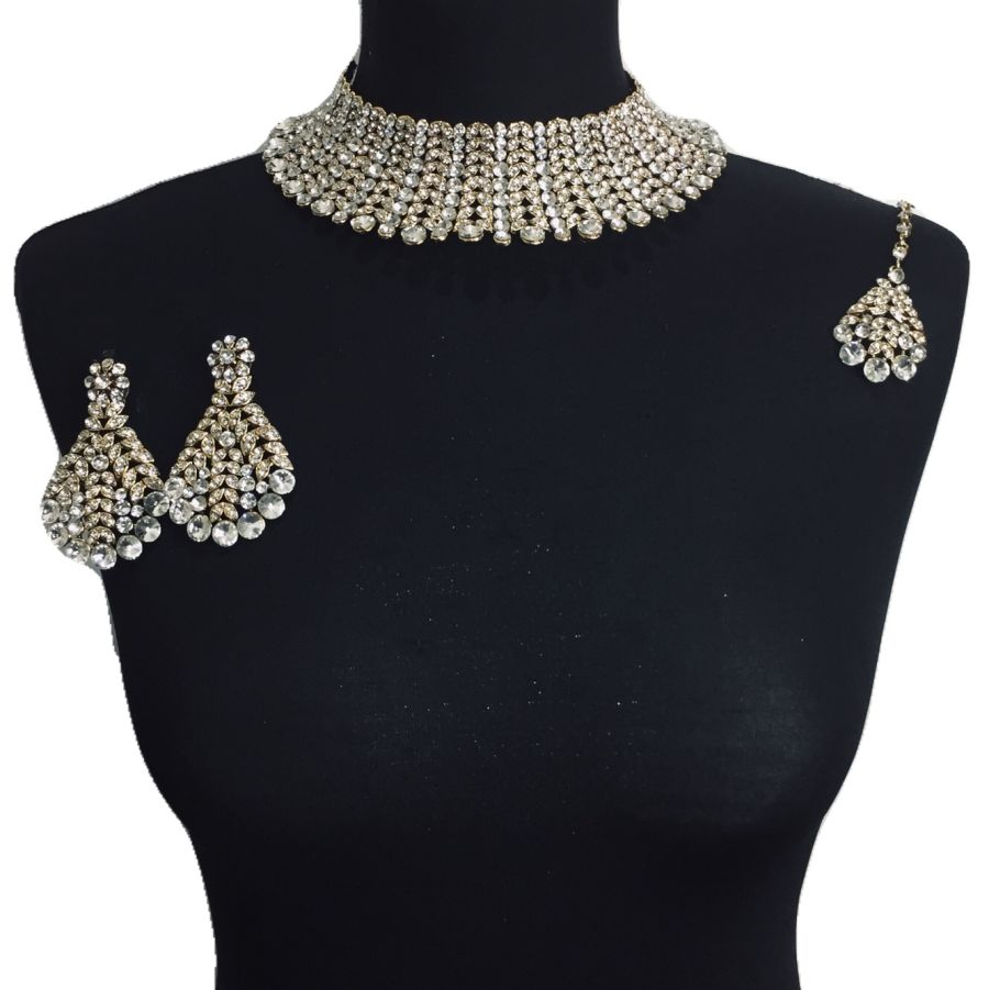 diamonte necklace set NCK0337