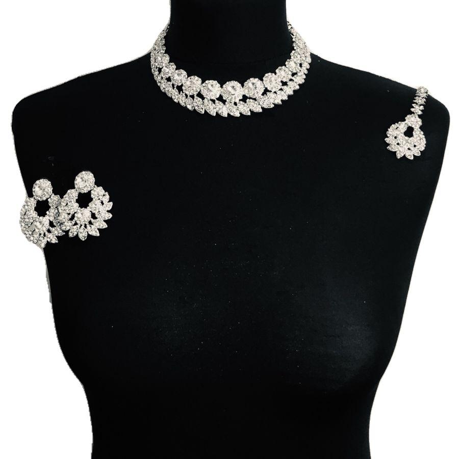 diamonte necklace set NCK0341