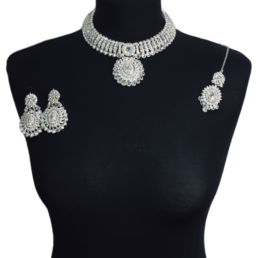 diamonte necklace set NCK0342