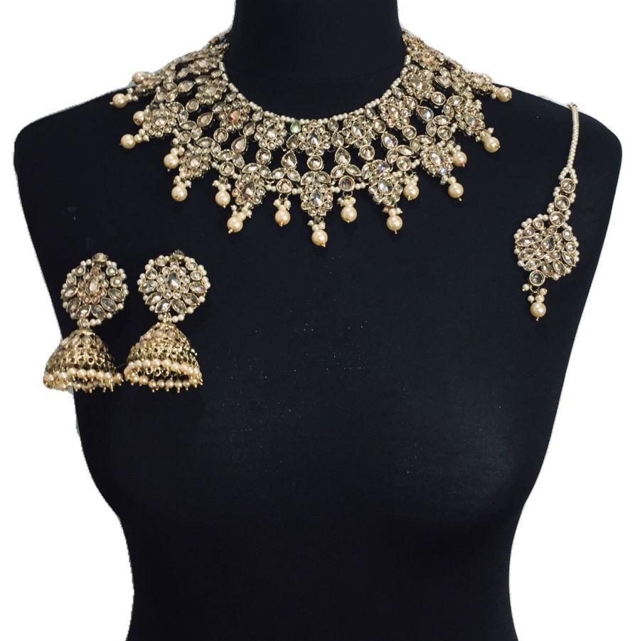 golden necklace set NCK0344