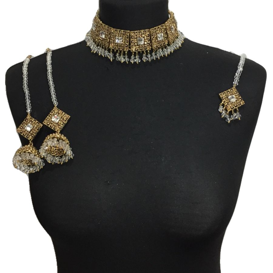 golden necklace set NCK0345