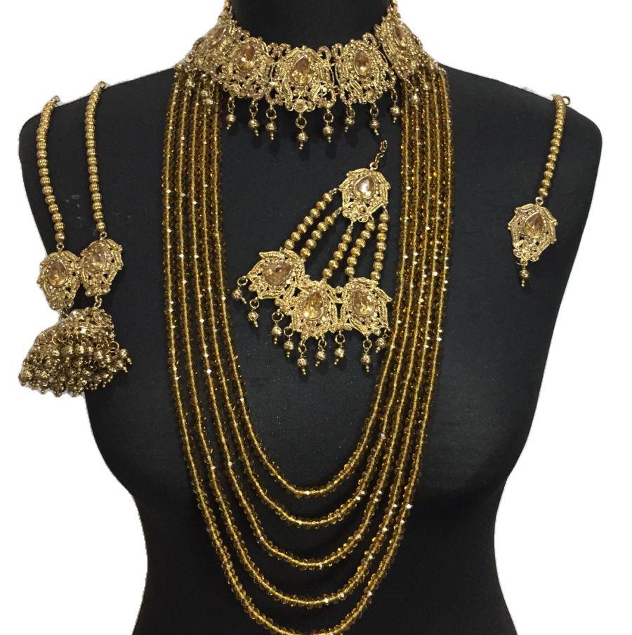 golden bridal mala set BRD0346