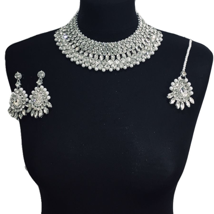 diamonte necklace set NCK0352