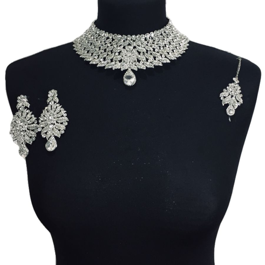 diamonte necklace set NCK0353