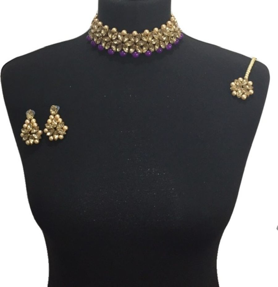 elegant purple choker set NCK0613