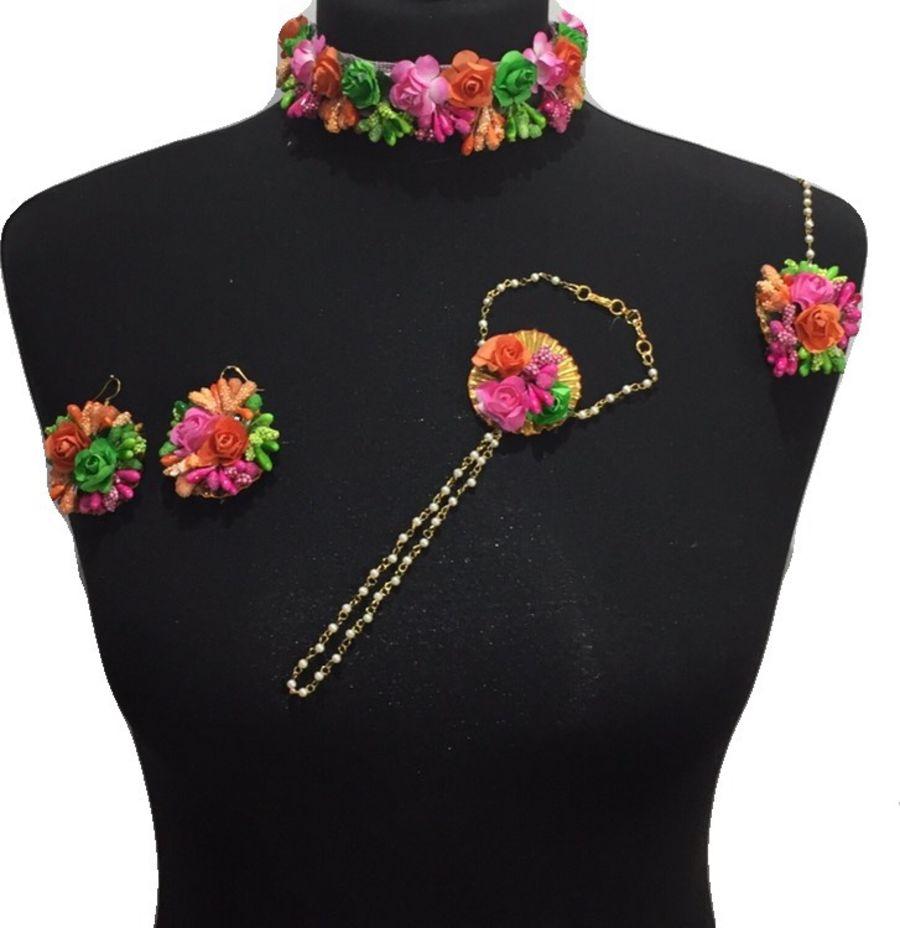 mehndi flower jewellery BRD0436