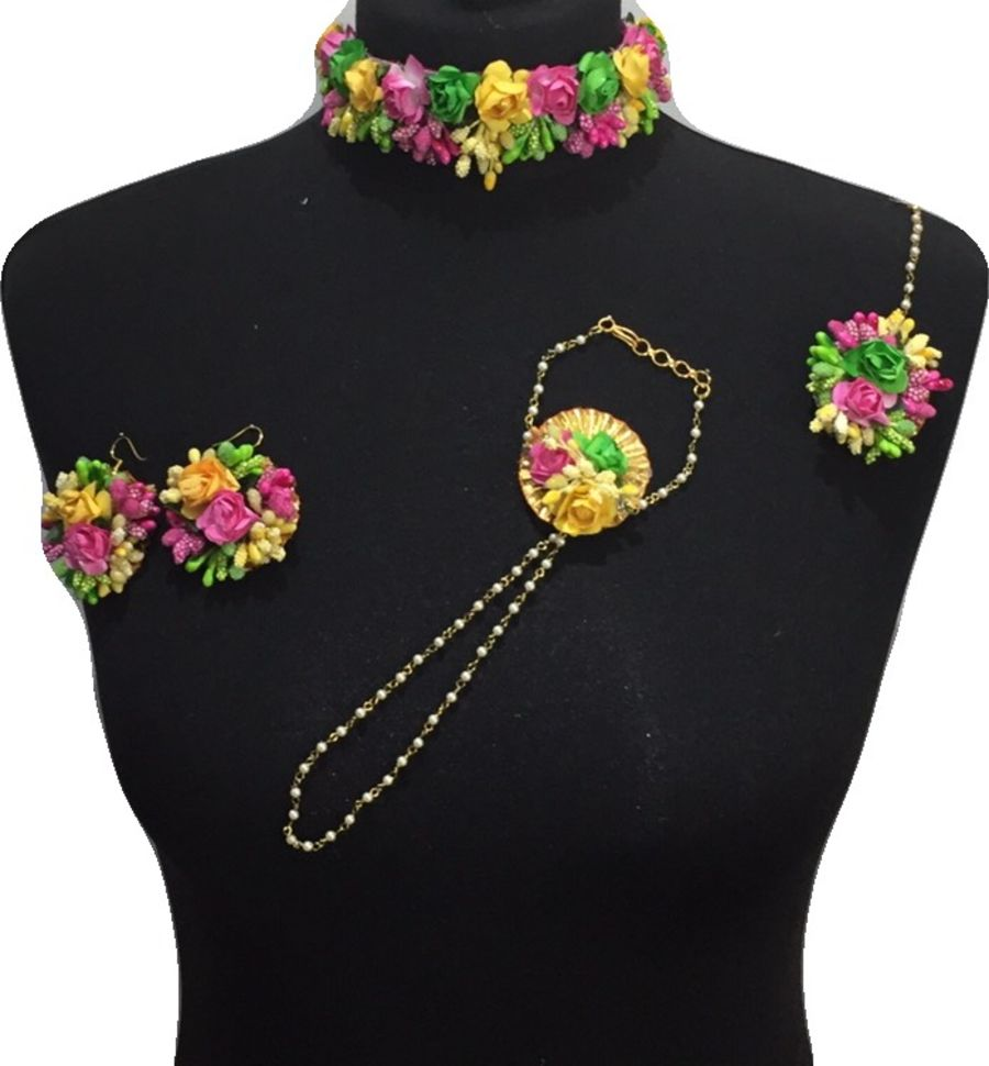 mehendi flower jewellery BRD0437