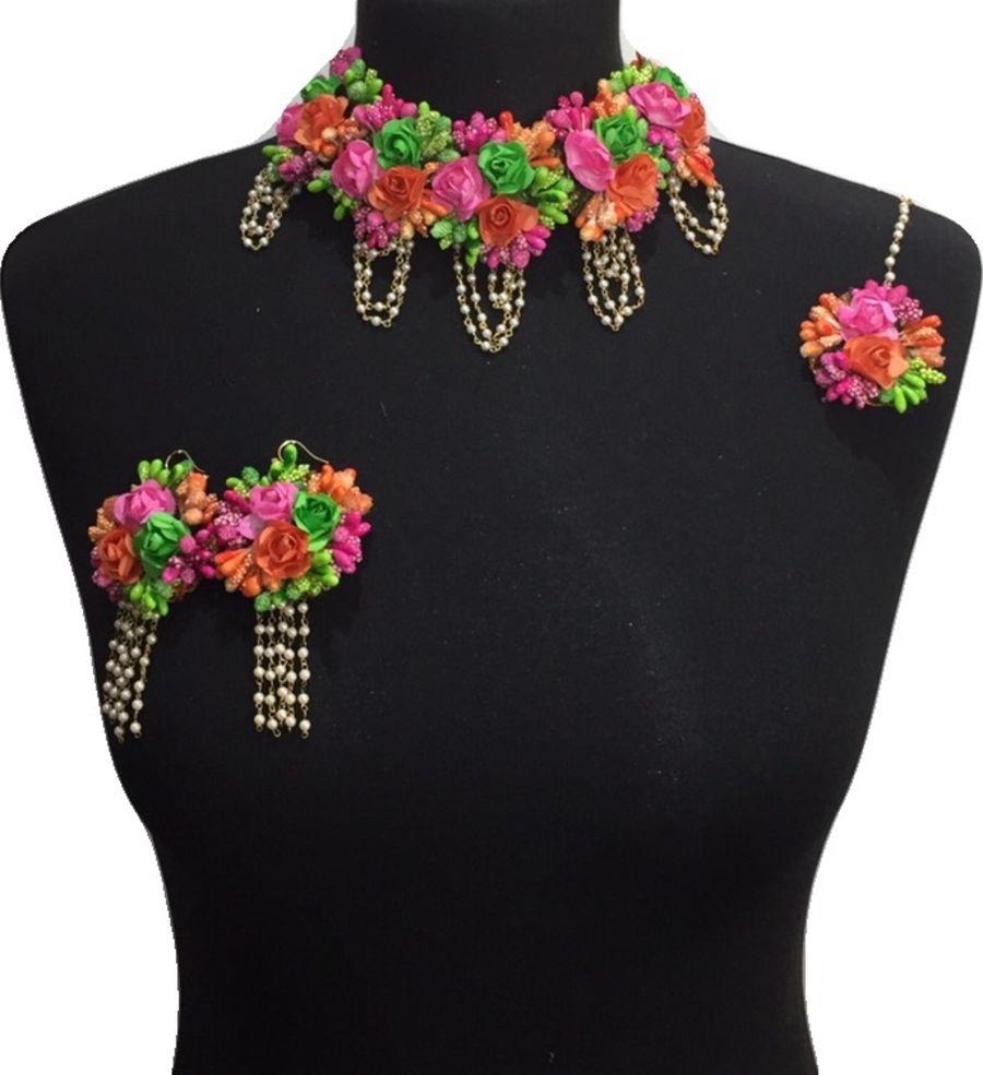 mehndi flower bridal jewellery BRD0442