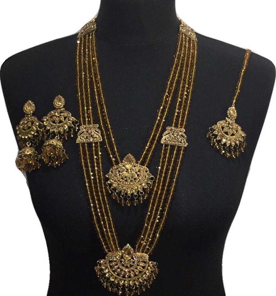 golden mala necklace set NCK0621