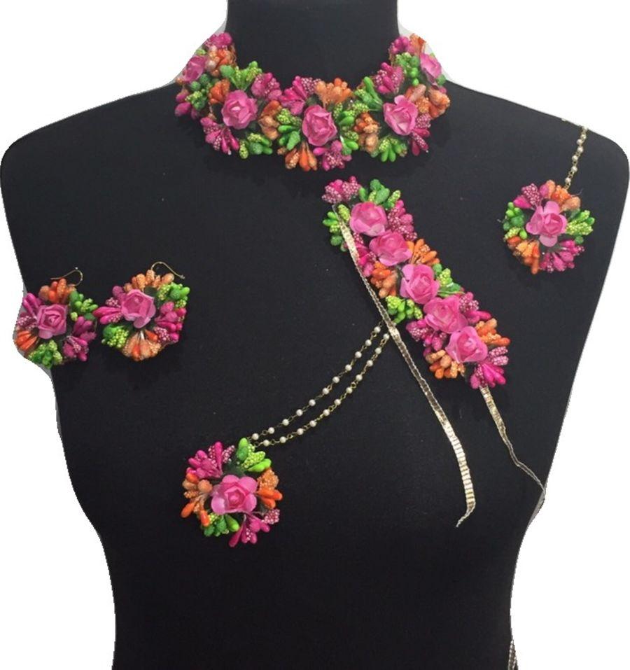 mehndi flower bridal jewellery BRD0458