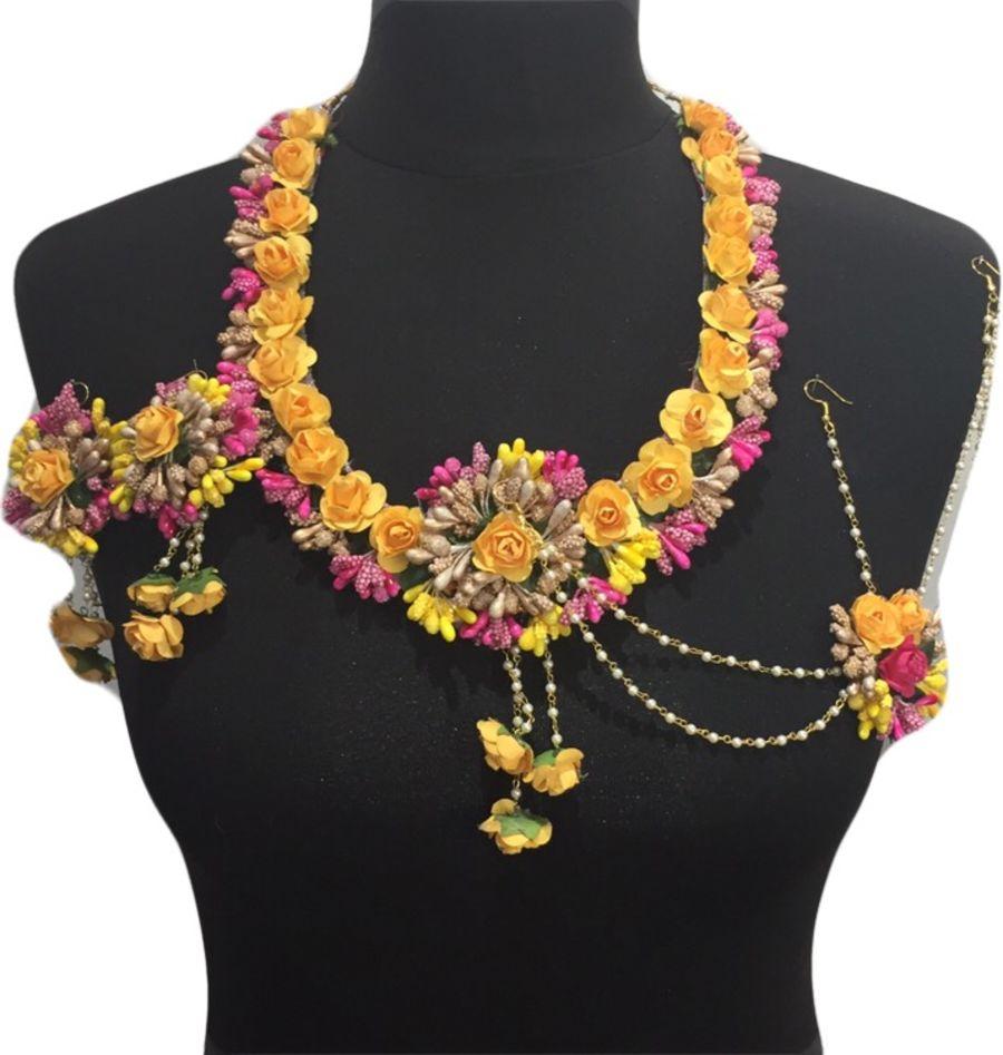 mehndi flower bridal mala jewellery BRD459