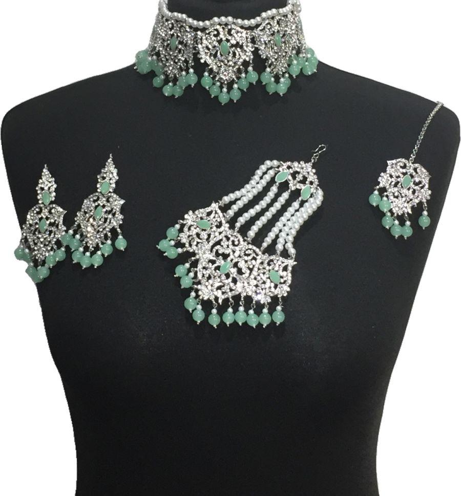 mint bridal jewellery set BRD0469