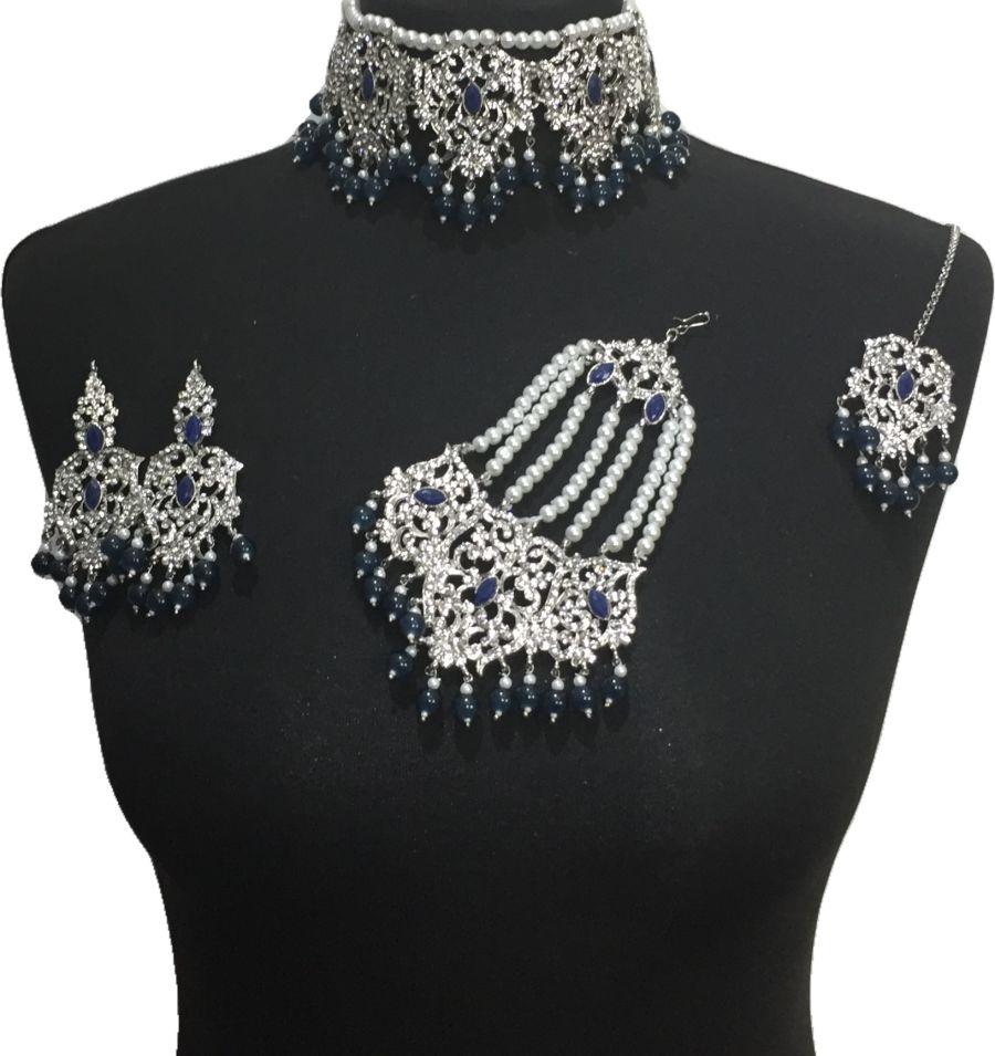 navy bridal jewellery set BRD0470