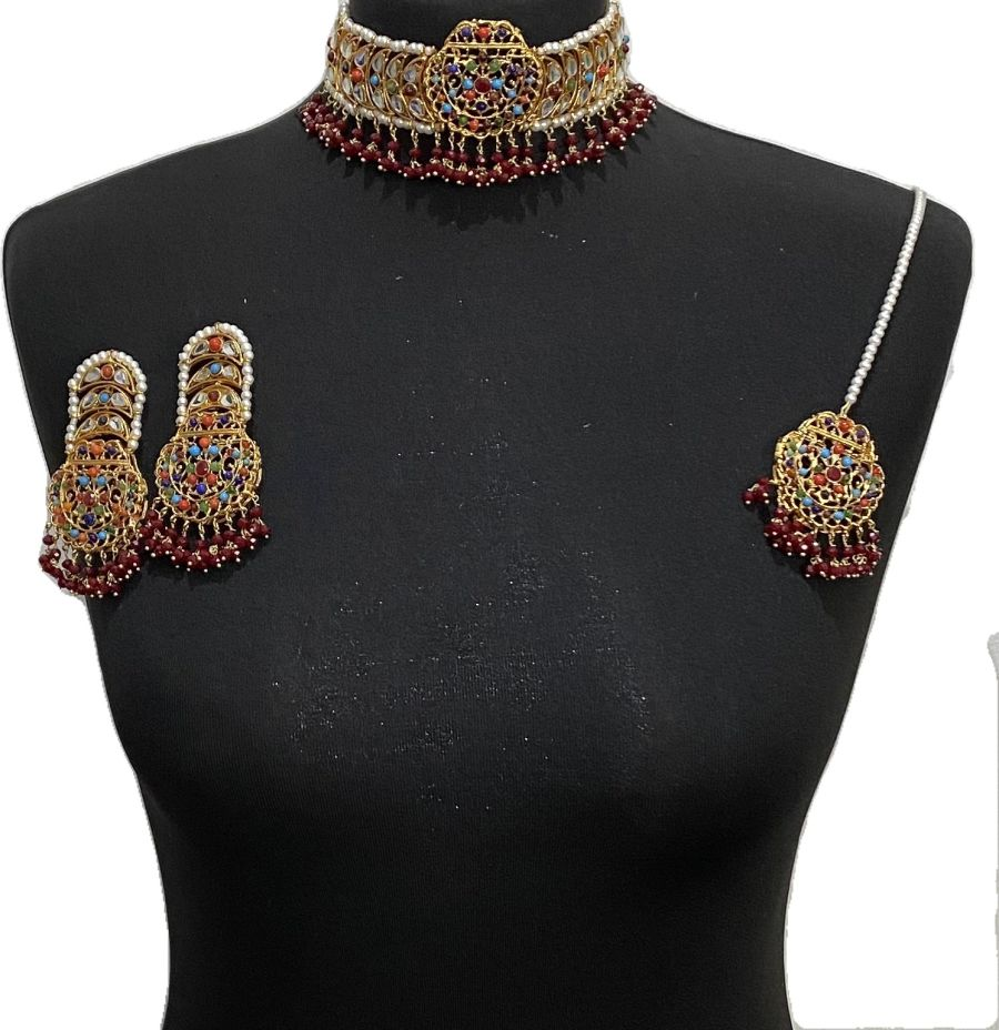 nau ratan kundan jewellery set NCK0630