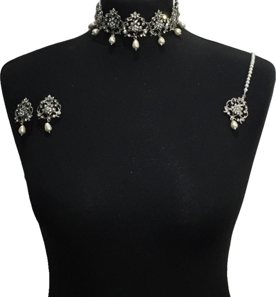 Pakistani choker jewellery set NCK0638