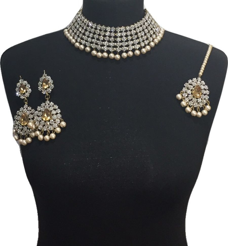 diamonte indian jewellery set NCK0639