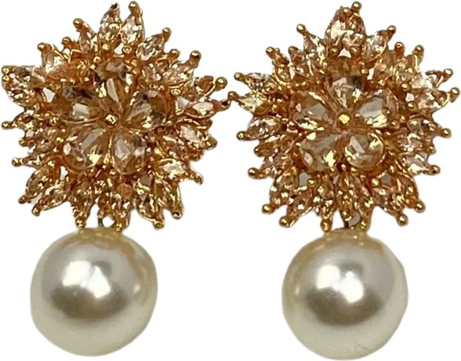 champagne pearl earrings EAR0323
