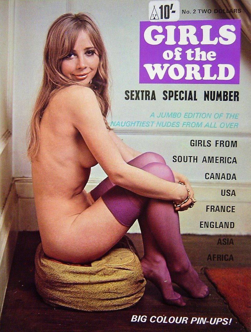 GIRLS OF THE WORLD. MEN`S MAGAZINE.