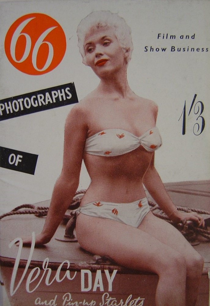 66 PHOTOGRAPHS OF VERA DAY. VINTAGE MEN`S POCKET MAGAZINE.
