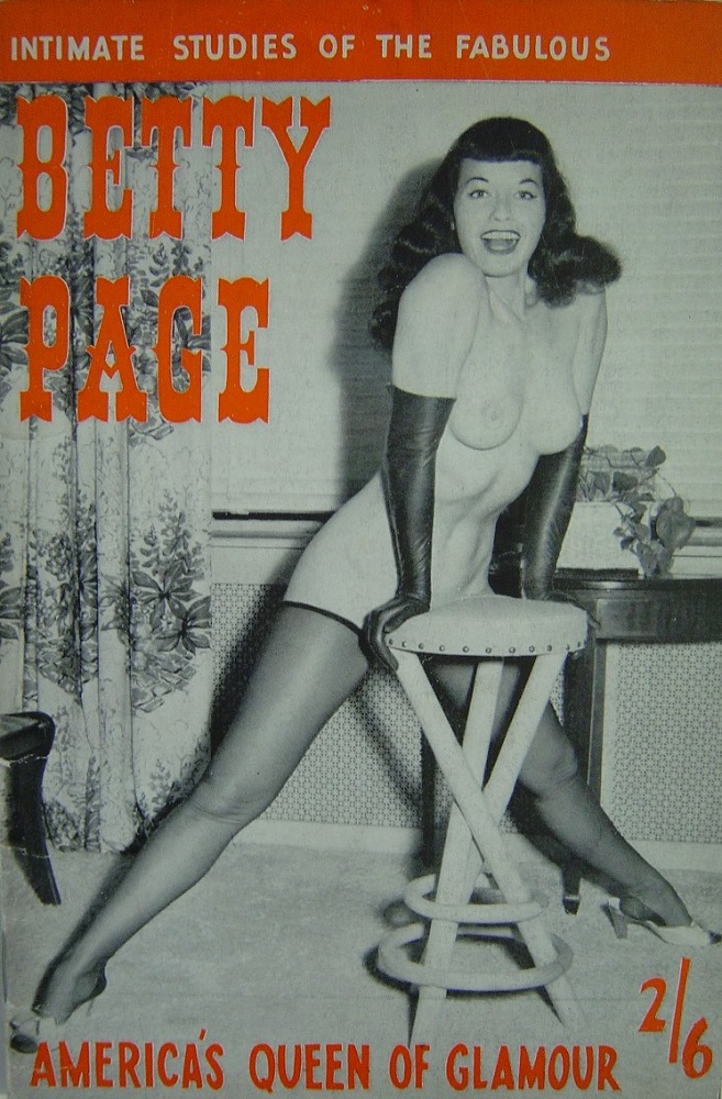 BETTY PAGE. VINTAGE MEN`S POCKET MAGAZINE.