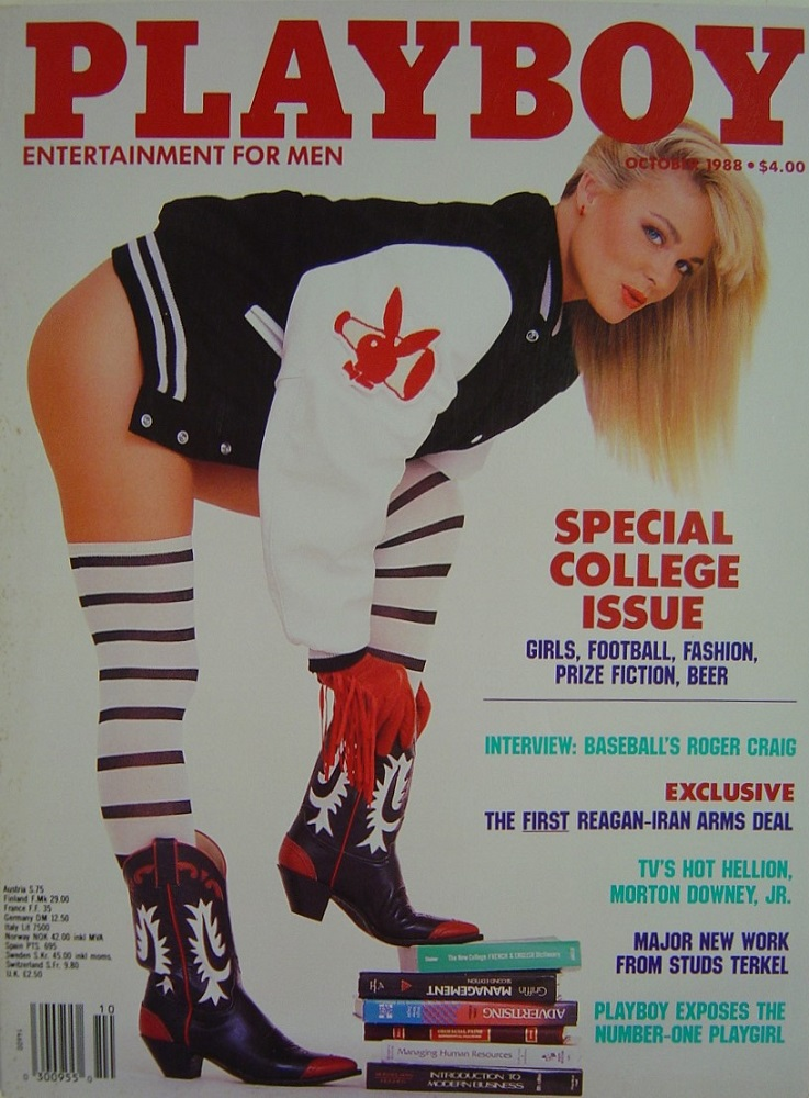 PLAYBOY. OCT. 1988. MEN`S MAGAZINE