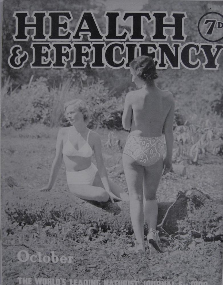 HEALTH & EFFICIENCY. OCT. 1940. NATURIST MAGAZINE.