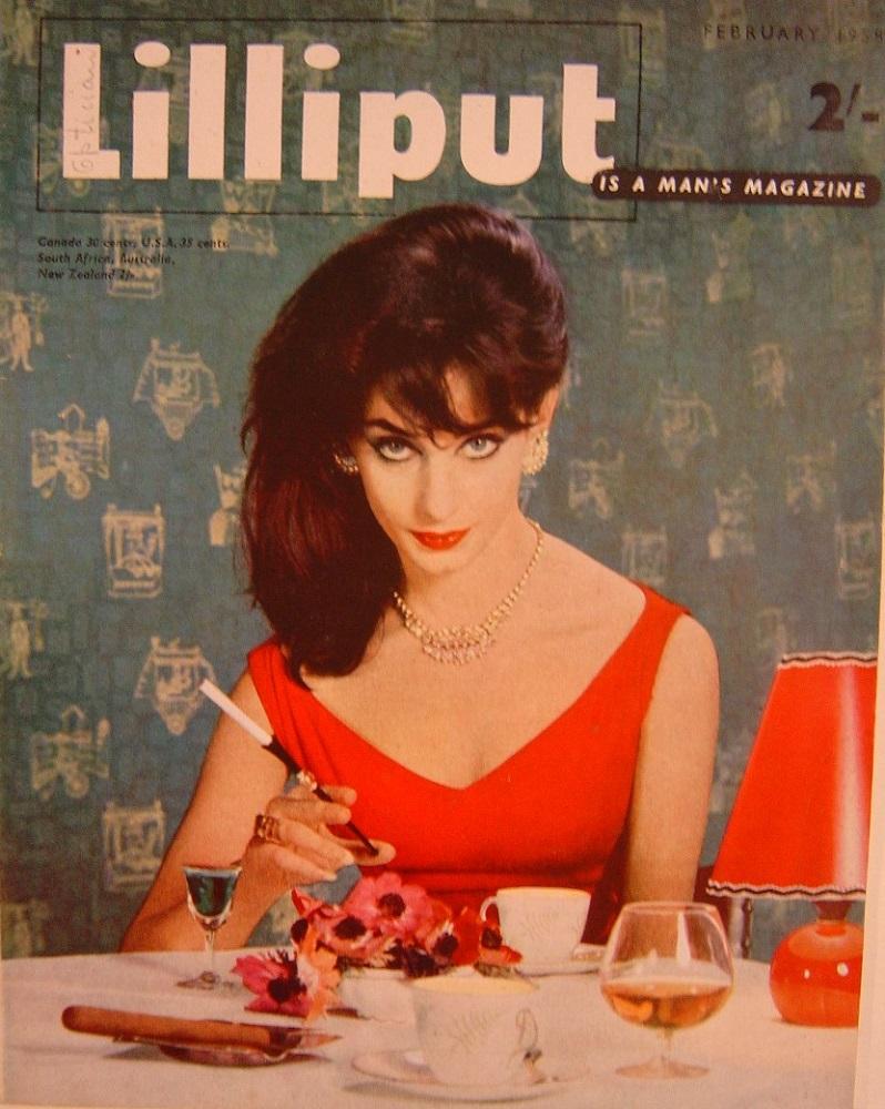 LILLIPUT. FEB. 1958. MEN`S MAGAZINE.