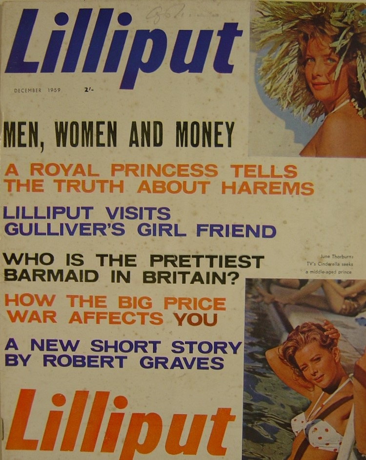 LILLIPUT. DEC. 1959. MEN`S MAGAZINE.