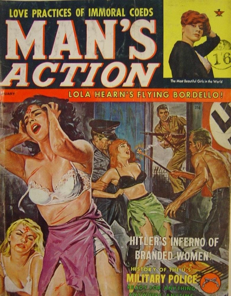 MAN`S ACTION. JAN. 1962. PULP MAGAZINE.