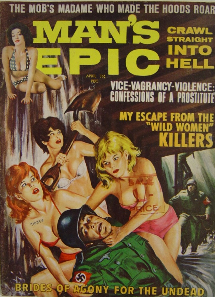 MAN`S EPIC. APR. 1964. PULP MAGAZINE.